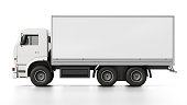 Transportation truck with blank copy space