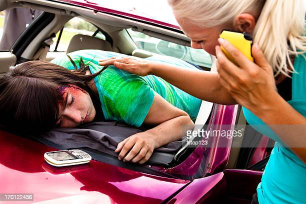 transportation:  vehicle accident with driver on dashboard - death photos stock photos and pictures