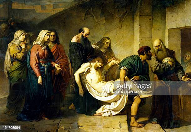 Transporting Christ to the tomb ca 1855 by Alessandro Guardassoni Holy Trinity Church Bologna EmiliaRomagna Italy 19th century