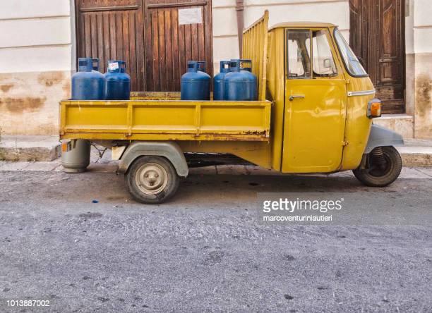 transporting gas bottles in town