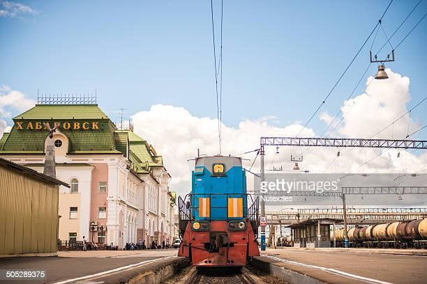 Trans-Siberian railway in Krabarovsk, Russia, Eur