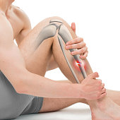 Transverse Fracture of the Tibia - Leg Fracture 3D illustration