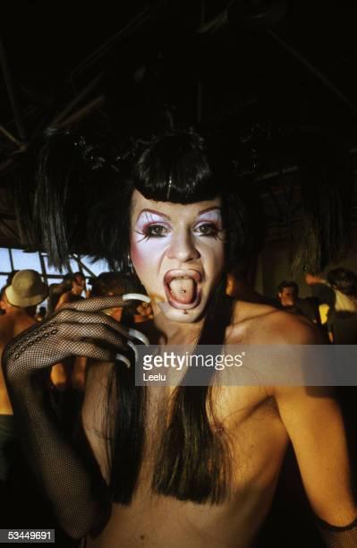 A transvestite at Manumission at Privilege Ibiza 2002