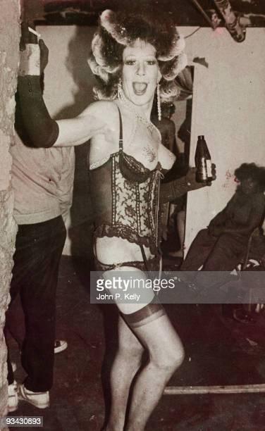 A transvestite at Studio 54 in New York City circa 1975