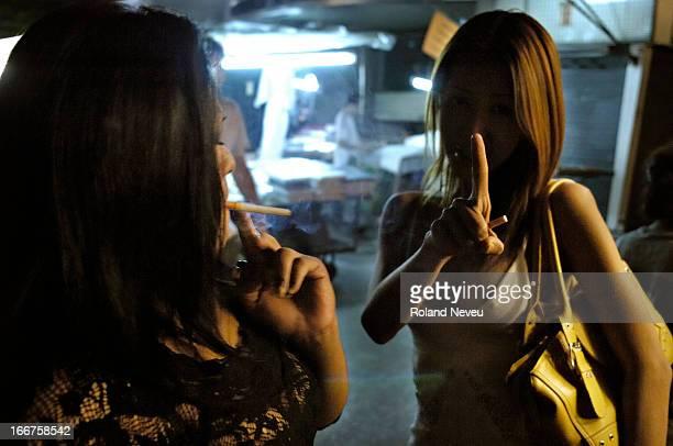 Transvestites at the Patpong red light district in Bangkok
