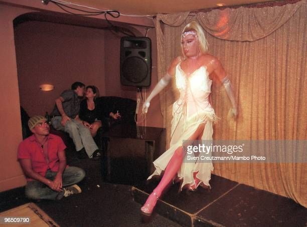 Transvestites at the Twist Bar in Miami Beach on September 25 in Miami USA Gregory Hemingway son of fame American writer and Nobel Prize winner...