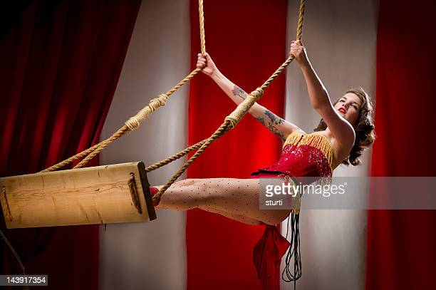 trapeze artist - trapeze artist stock photos and pictures