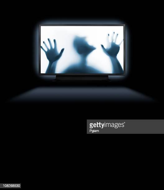 Gefangen hinter einem hd-Flachbildfernseher