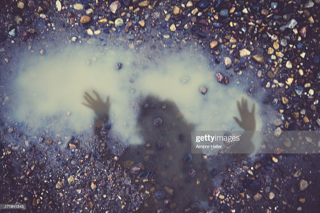 Trapped in a puddle : Stock Photo