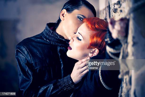 trapped - women being strangled stock photos and pictures