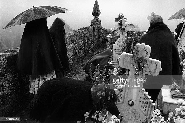 Tras os Montes in Gralhas Portugal The day of the dead in the Gralha cemetery