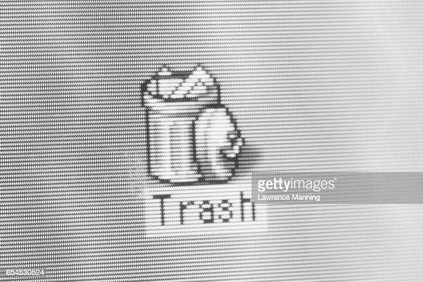 Trash Can Icon on Computer Screen