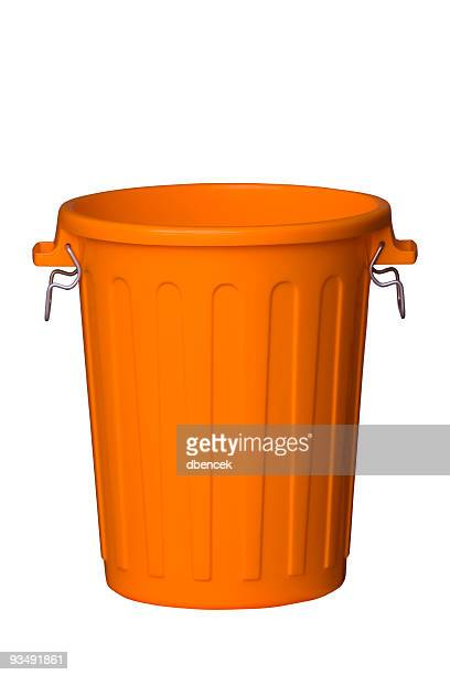 trash can - open - garbage can stock photos and pictures