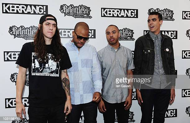 'Trash Talk' attend the Relentless Energy Drink Kerrang Awards 2010 at The Brewery on July 29 2010 in London England