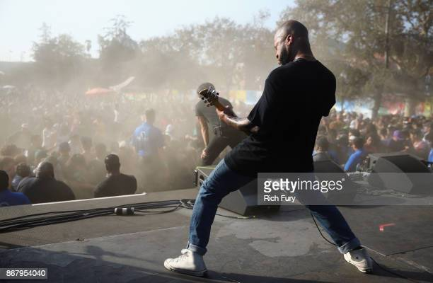 Trash Talk performs on the Flog Stage during day 2 of Camp Flog Gnaw Carnival 2017 at Exposition Park on October 29 2017 in Los Angeles California