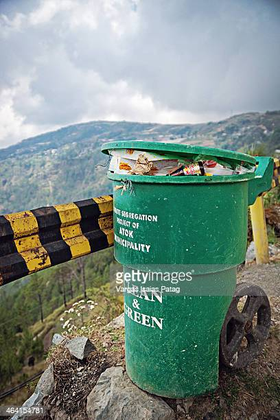 CONTENT] A trashcan found at the highest point that a public land vehicle can drive in the Philippines