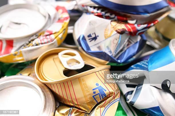 Trashed cans