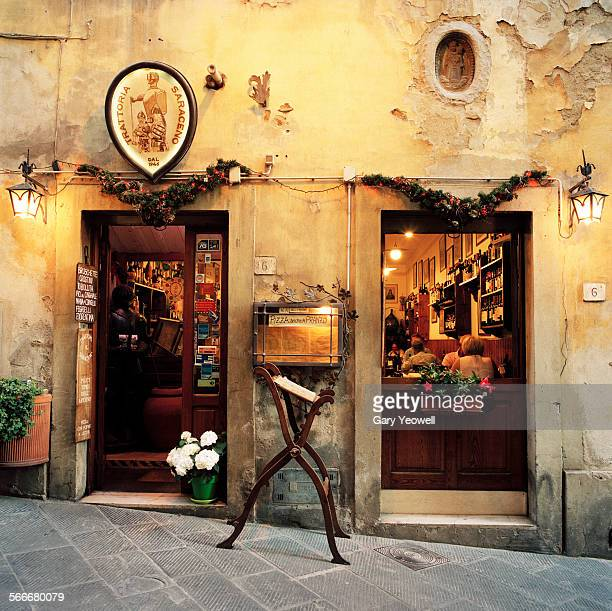 trattoria with people dining inside - italian culture stock pictures, royalty-free photos & images