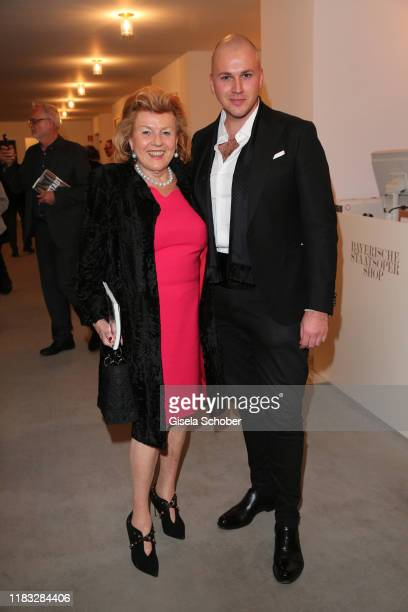Traudi Kustermann and Lorenzo Achatz at the opera premiere of Die tote Stadt by Erich Wolfgang Korngold at Bayerische Staatsoper on November 18 2019...