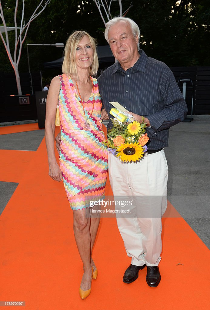 Traudl Kerth and her boyfriend Manfred Luege attend the Verena Kerth birthday party at P1 on July 18, 2013 in Munich, Germany. Kerth also celebrated the release of the new Playboy issue with her on the cover.