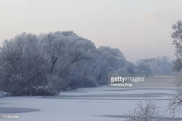 Traumhaft Winterliche Impressionen An Der Donau In Der Nähe Des Bayerischen Waldes