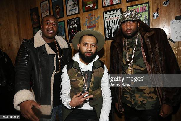 Trav Rodney Bucks Charlemagne and Windsor Slow Lubin attend Webster Hall on January 12 in New York City