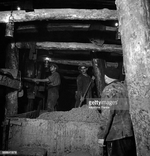 Travaux du tunnel de la CoixRousse à Lyon France en 1942