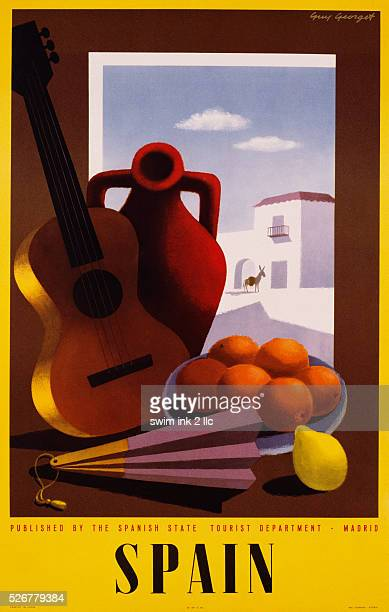 Travel Advertisement Poster for Spain by Guy George
