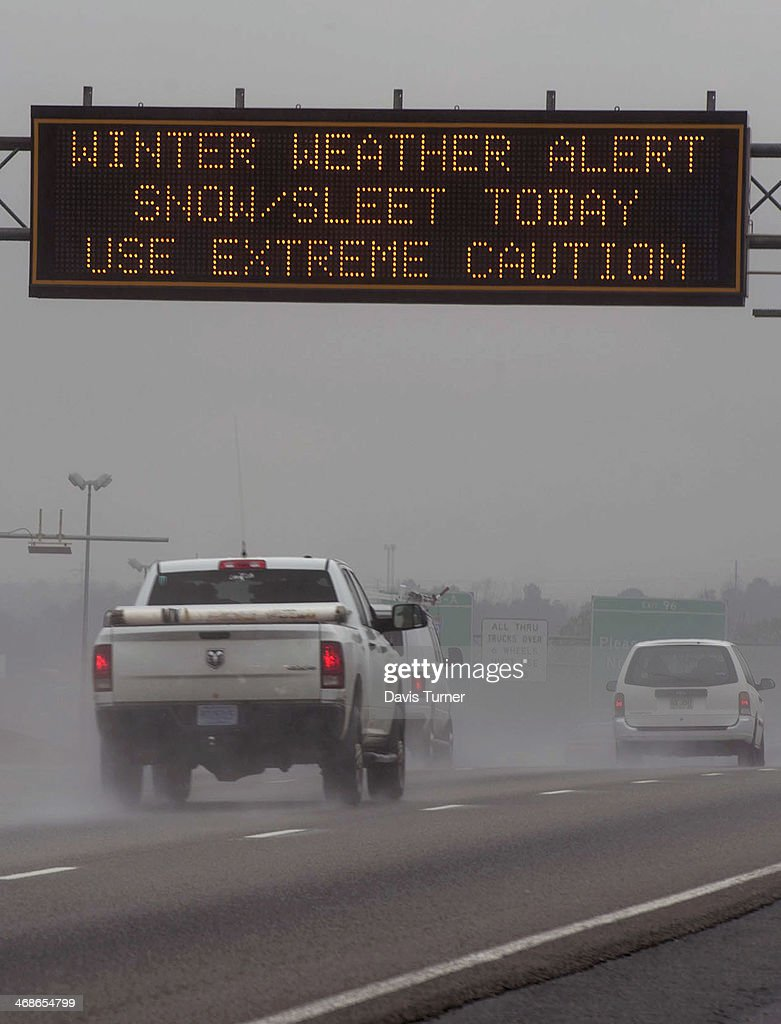 Another Winter Storm Affects Atlanta Area : News Photo