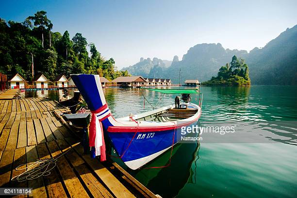 travel at ratchaprapha dam, thailand - ko samui stock photos and pictures