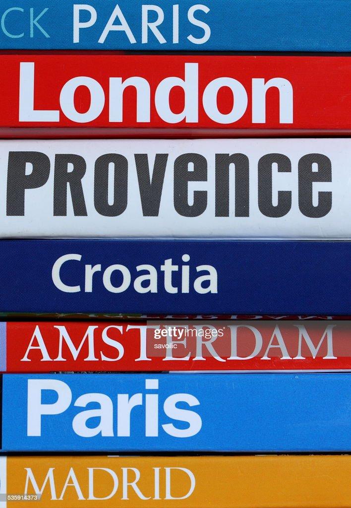 Libros de viajes : Foto de stock