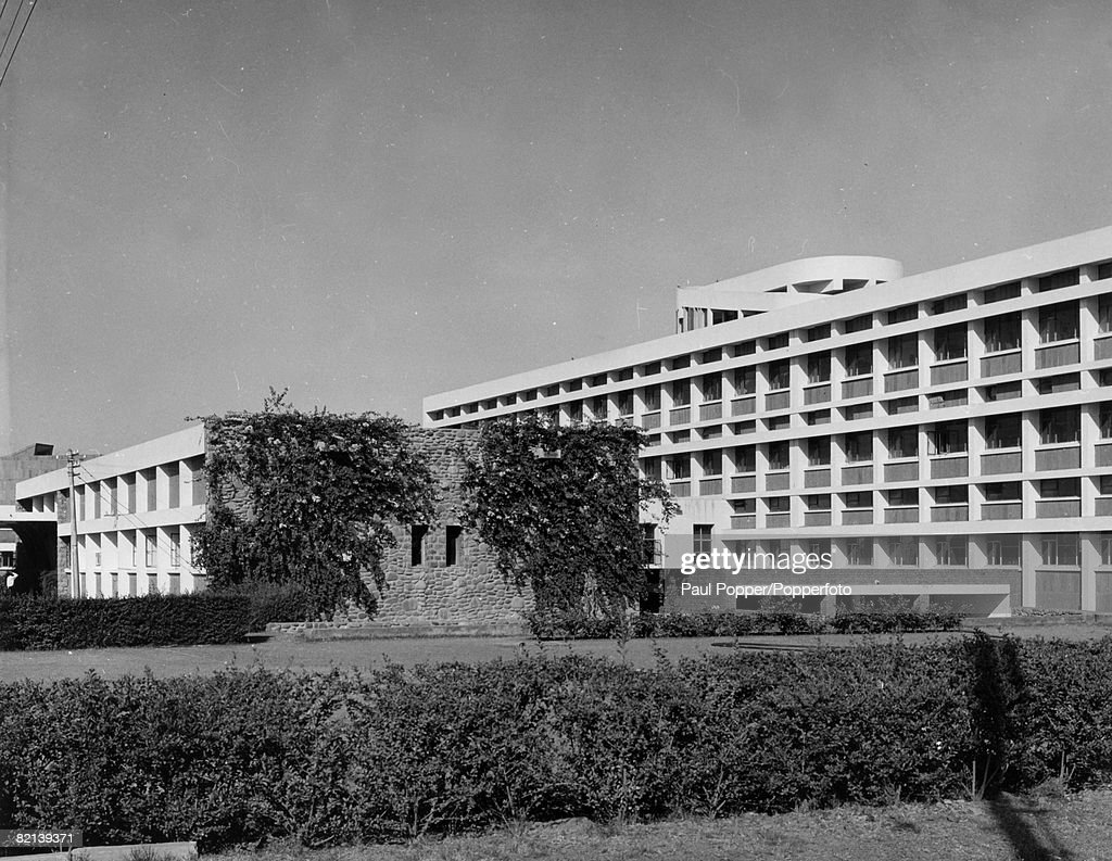 Travel Buildings Education India Chandigarh pic 1964 The modern adminstration block of the Punjab University in Chandigarh
