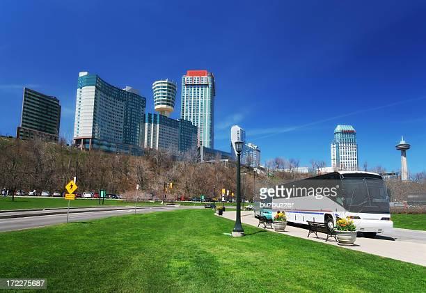 Travel buses in Niagara Falls city