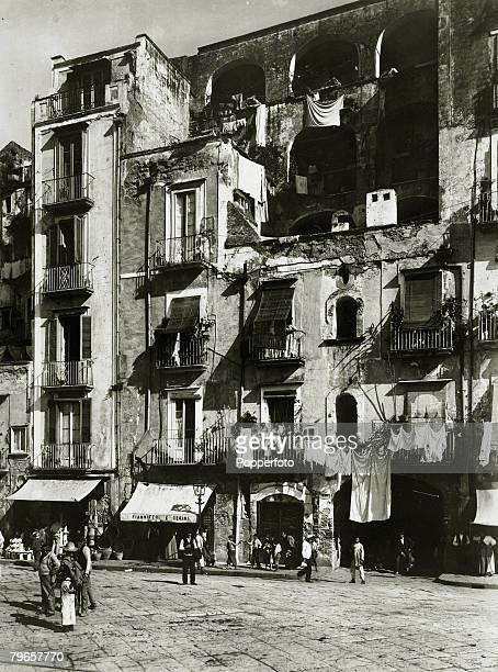 Travel Cities Italy Naples pic circa 1900 A typical street scene in Naples