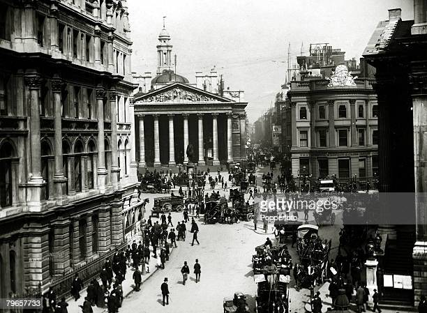 circa 1890 Mansion House Street and the Royal Exchange London