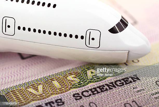 travel concept - passport stamp stock photos and pictures