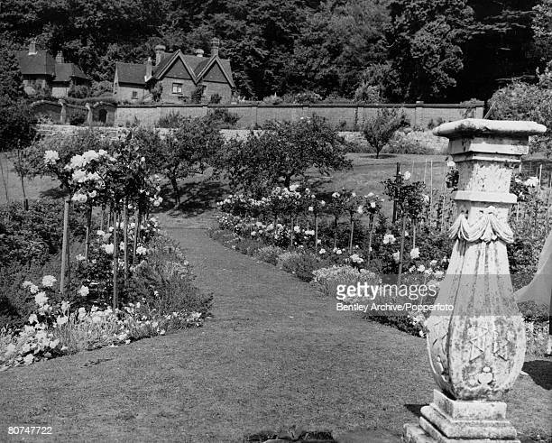 11th July 1962 The Anniversary Rose Garden at Chartwell the home of Sir Winston Churchill and open to the public for viewing