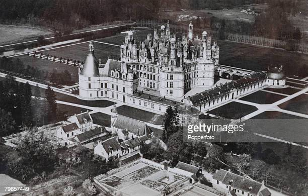 circa 1940's The Chateau Chambord in the Loire Valley