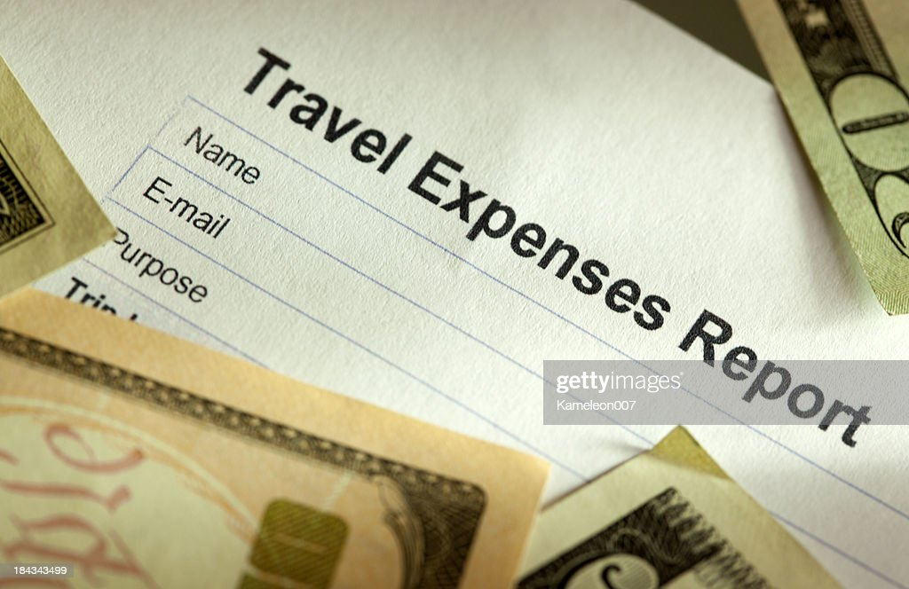 travel expense log sheet stock photo getty images