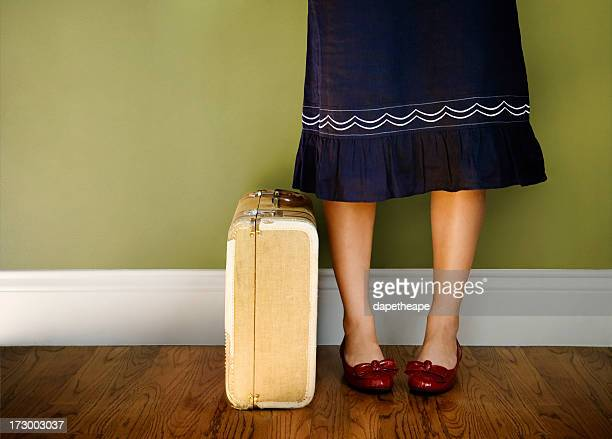 travel girl - bow legs stock photos and pictures