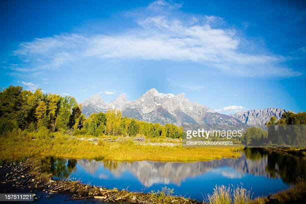 travel grand tetons national park - beaver dam stock pictures, royalty-free photos & images
