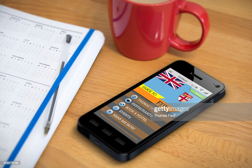 Travel Guide - FIJI - Smartphone App : Bildbanksbilder