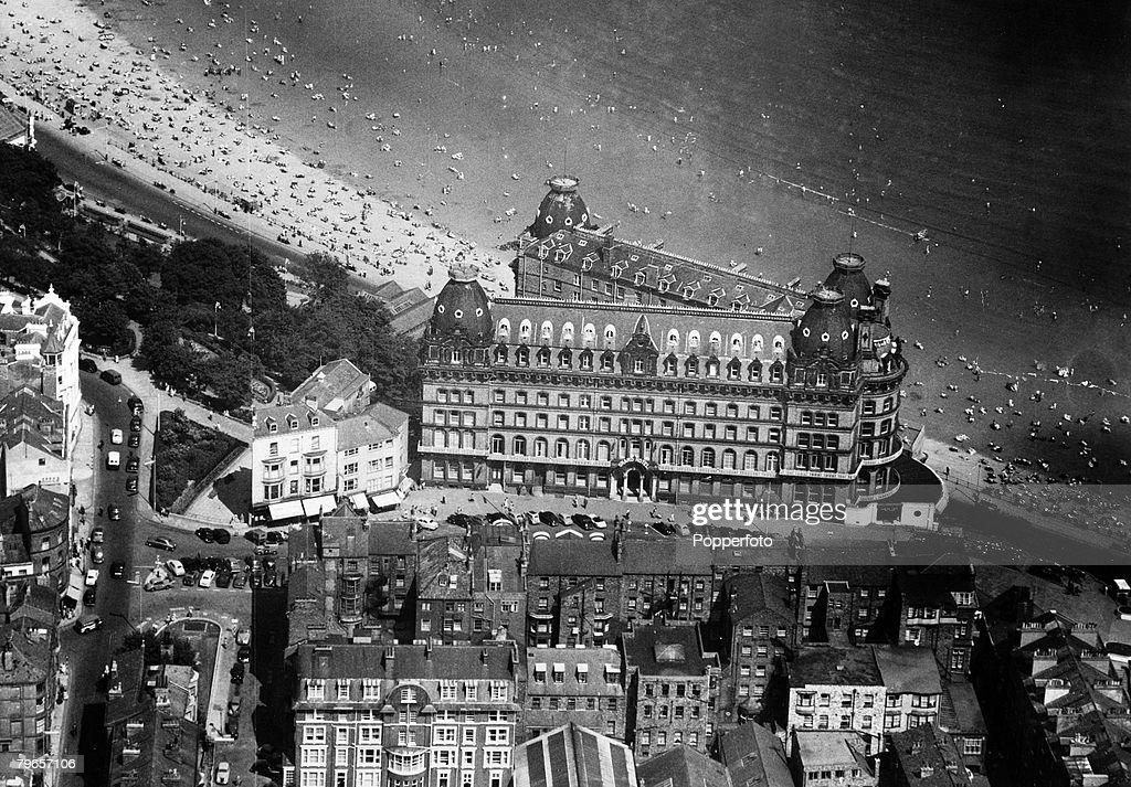 Circa 1950s An Aerial View Of The Grand Hotel Scarborough