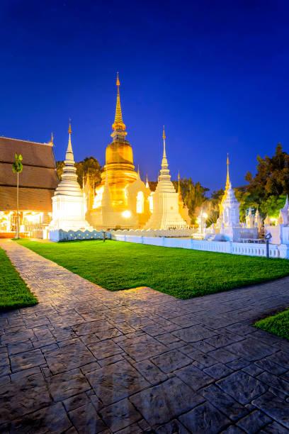 Travel in Chiang Mai, Thailand. Wat Suan Dok the Thai Temple at Chiang Mai, Thailand.