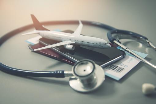 travel insurance safe trip concept 1085241630
