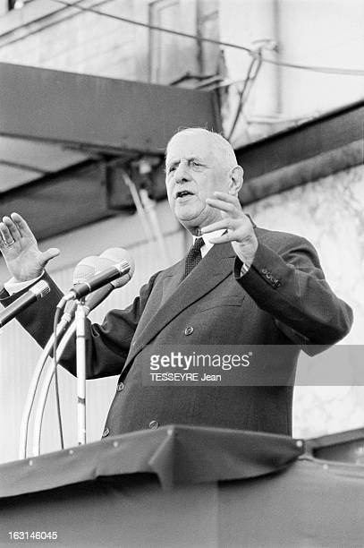 Travel Of De Gaulle Around Paris 1965 En mai 1965 à l'occasion d'un voyage officiel dans les département d' Eure et Loire Seine et Oise Seine et...