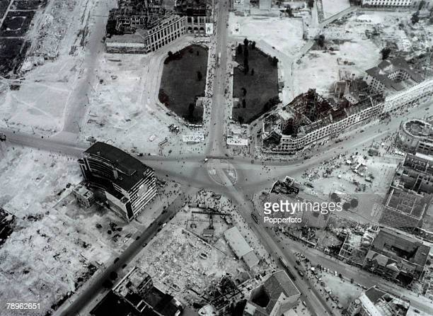 August 1951 Potsdamer Platz where the Russian British and American sectors meet in the divided city