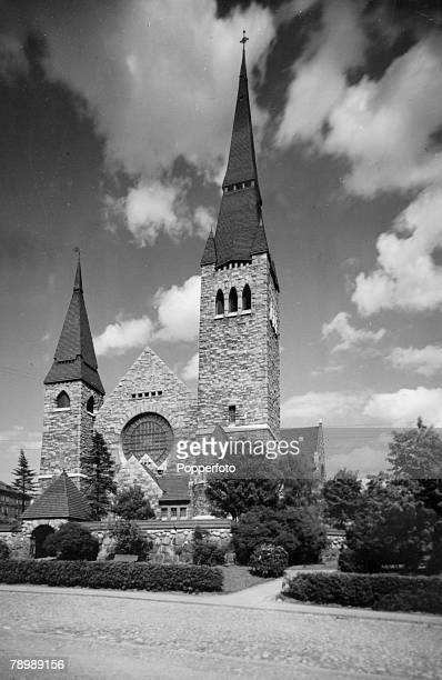 Travel Religion Finland Tammerfors pic circa 1930's The Cathedral