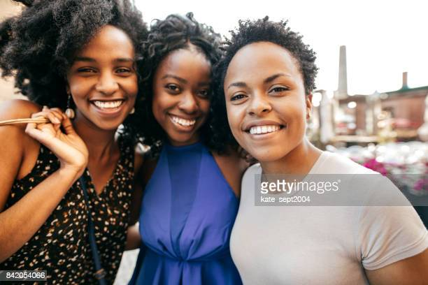 travel, shopping and summer joy - black women stock photos and pictures