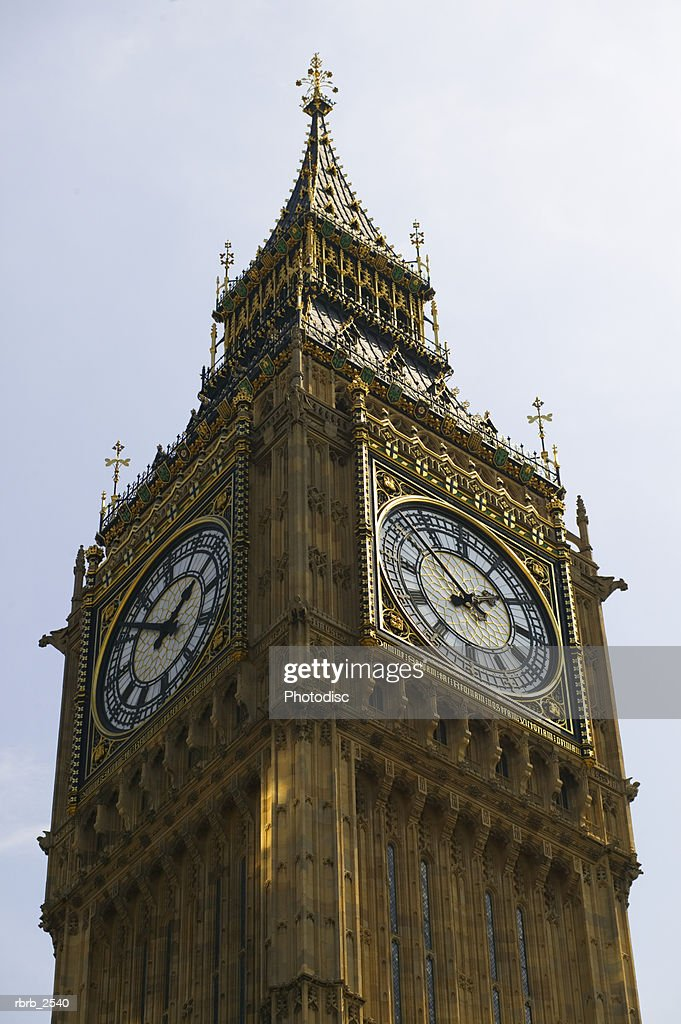 travel shot of the big ben clock in london england : Foto de stock